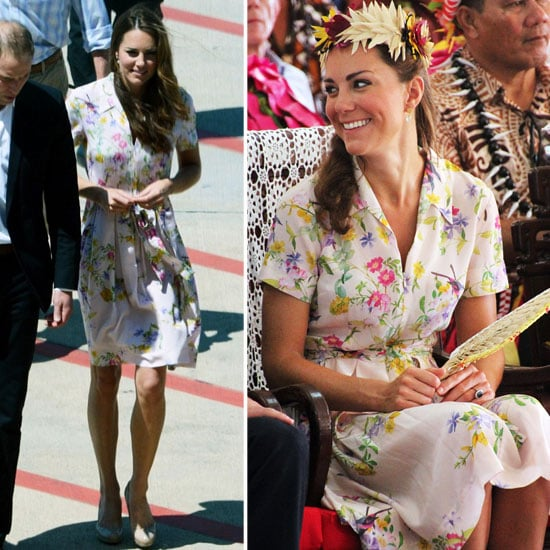 Kate Middleton Puts a Floral Finish on Her Diamond Jubilee Tour Style