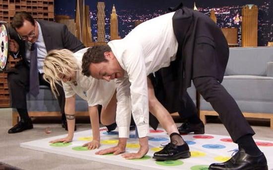 FROM EW: Watch Kristen Stewart and Jimmy Fallon Play Jell-O Shot Twister