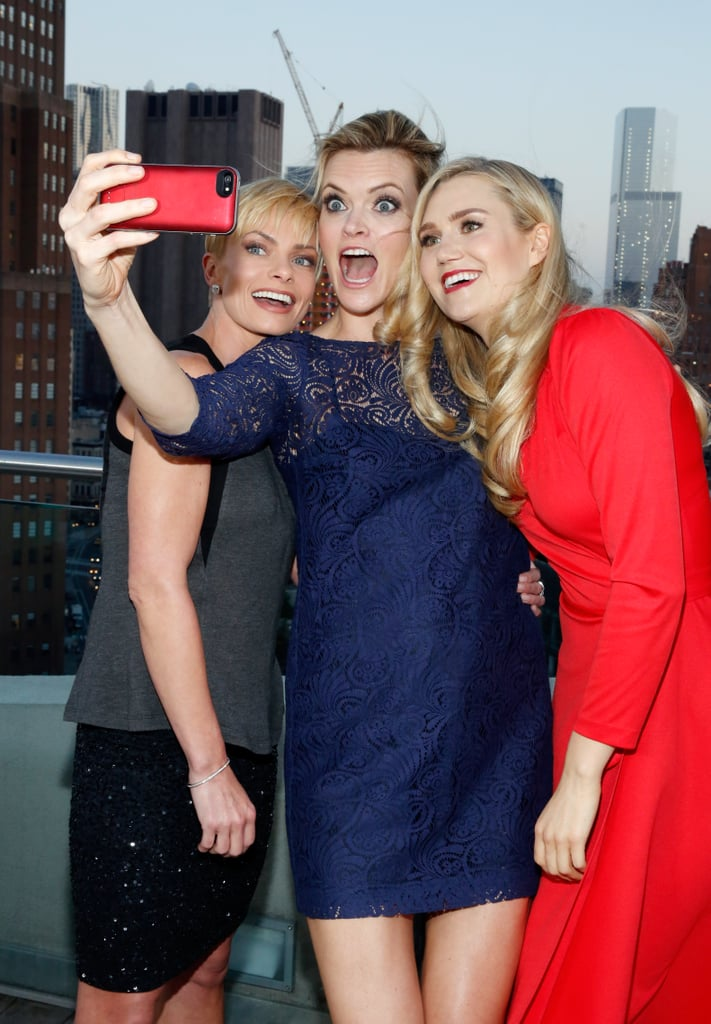 Jaime Pressly, Missi Pyle, and Nora Kirkpatrick took a silly selfie at the Jennifer Falls premiere in June 2014.