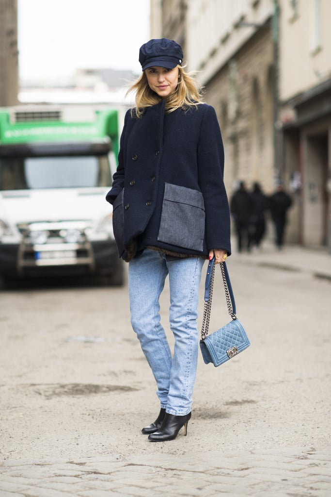 Her hat may say tomboy, but that Chanel bag says fashion darling.  Source: Le 21ème | Adam Katz Sinding
