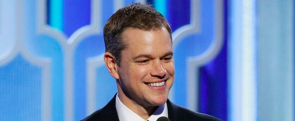 Matt Damon's Acceptance Speech Will Certainly Pull at Your Heartstrings