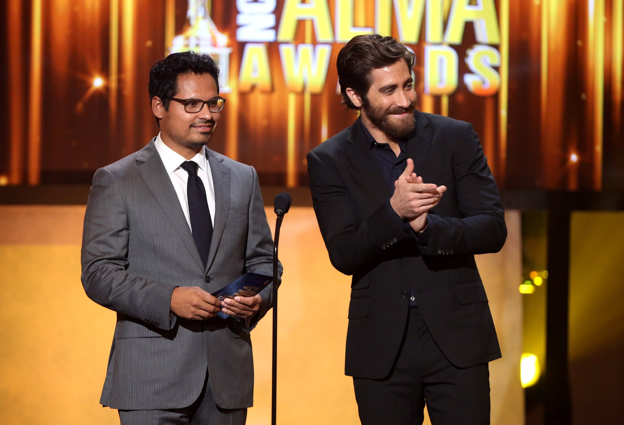 Jake Gyllenhaal presented an award with Michael Pena.