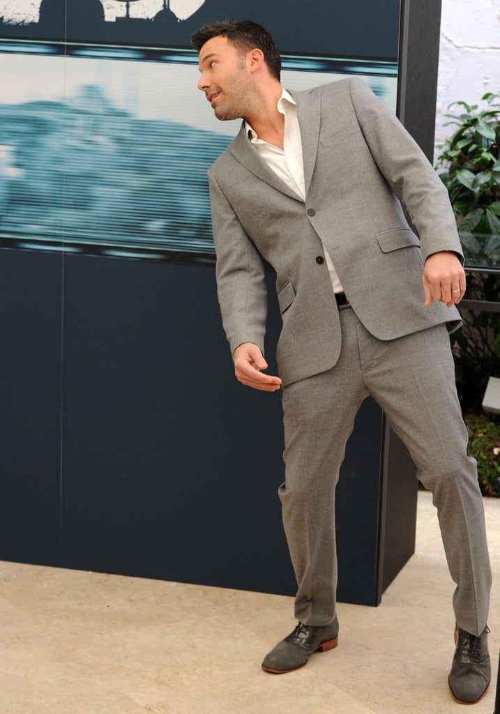Ben Affleck showed off his playful side at a photocall for Argo in Rome in October.