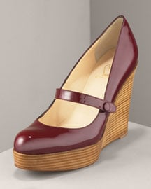 Patent Leather + Stacked Heel = Love!