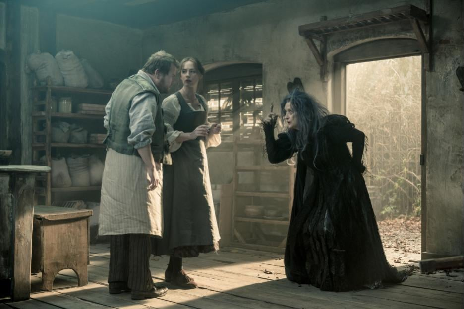 Corden as the Baker and Blunt as the Baker's Wife and Streep as The Witch.
