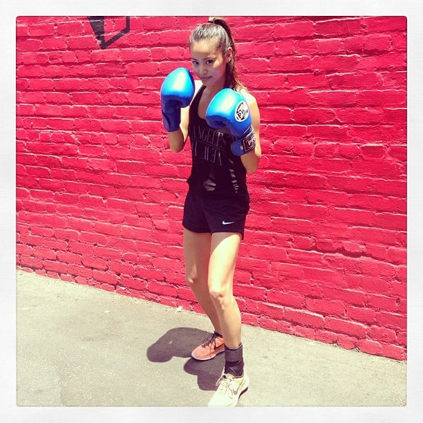 Jamie Chung gave us a glimpse of her latest workout, and proved just how easy it is to stay stylish while kicking ass. Source: Instagram user jamiechung1