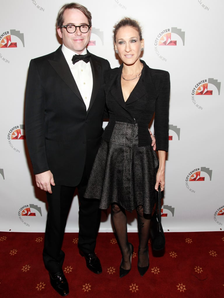 Sarah Jessica Parker and Matthew Broderick posed together on the red carpet.