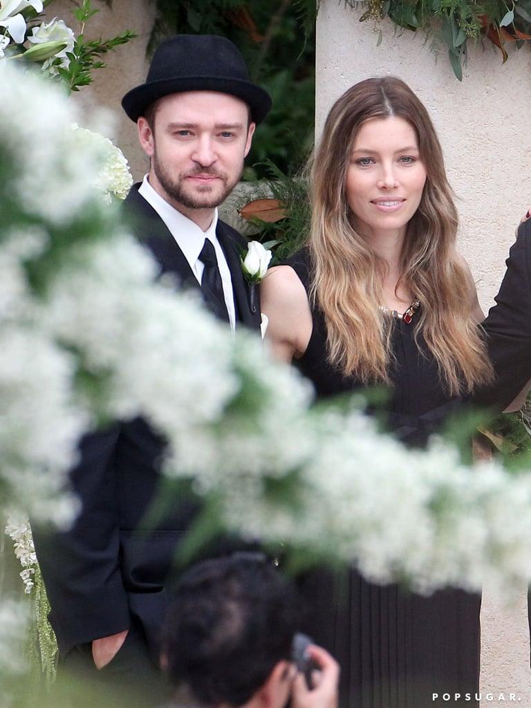 Justin Timberlake and Jessica Biel attended Chris Kirkpatrick's November 2013 wedding in Orlando, FL.