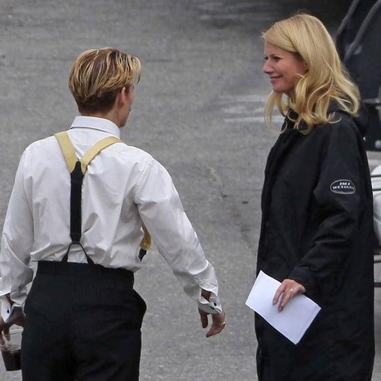 Gwyneth Paltrow, Johnny Depp, and Jeff Golblum on Set