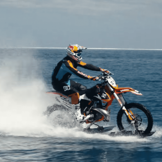 Dirt Bike Surfing Video