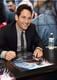 Paul Rudd showed off his boyish grin at Marvel's Ant-Man booth on Saturday.