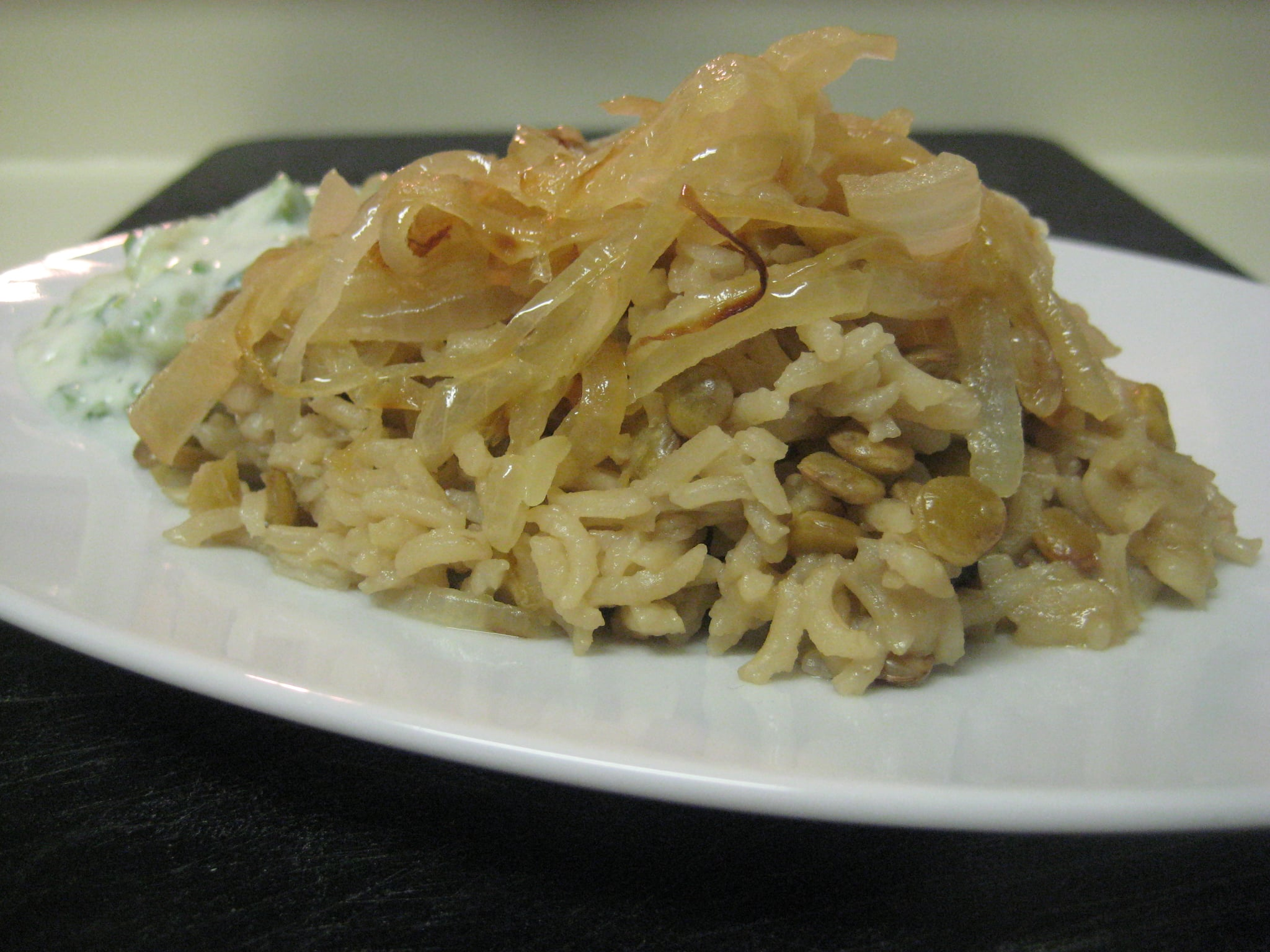 Indian Rice and Lentils with Raita
