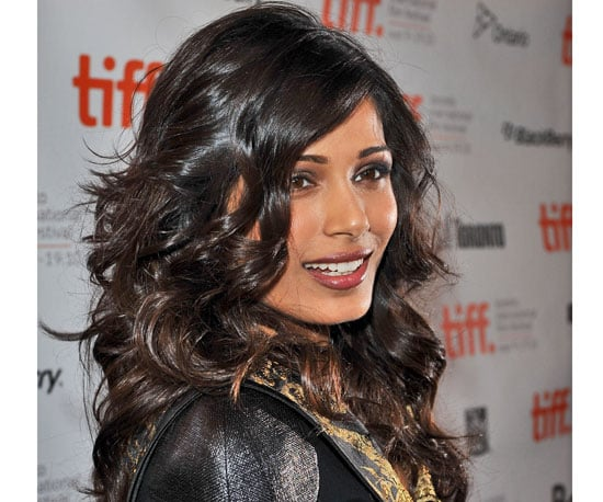 How to Get Freida Pinto's New Curled Hairstyle