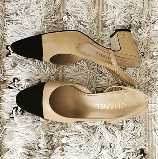 Chanel Two-Tone Slingback Shoe