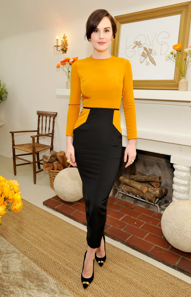 When Michelle Dockery lunched with LoveGold, we loved the way gold looked on the Downton Abbey star.