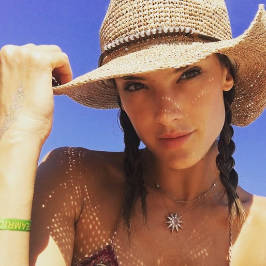 Alessandra Ambrosio Beach Selfie in Rio August 2016