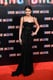 For the Madrid premiere of Spring Breakers, Selena Gomez chose a black lace Dolce & Gabbana gown with a bustier bodice.