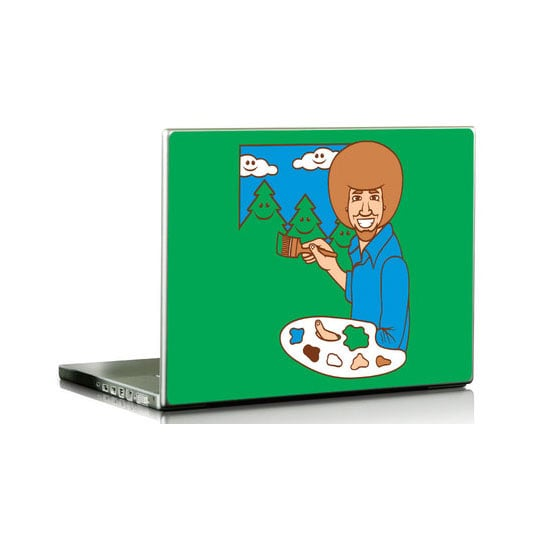 Adorable Bob Ross-Themed Gadget Skins For Happy Tree-Like Memories