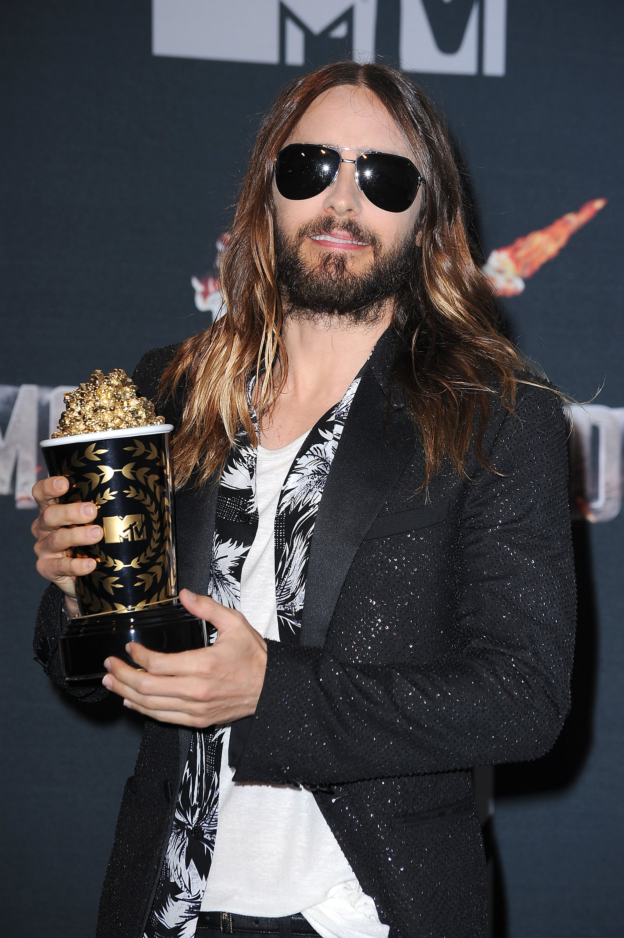 Jared Leto Takes a Helicopter From Coachella to Accept His MTV Movie Award