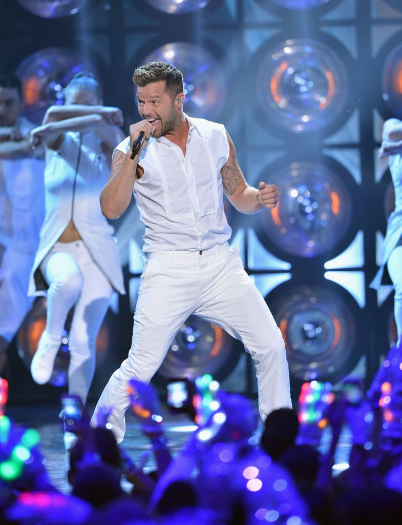 Ricky Martin was among the group of performers at the Premios Juventud event on Thursday night.