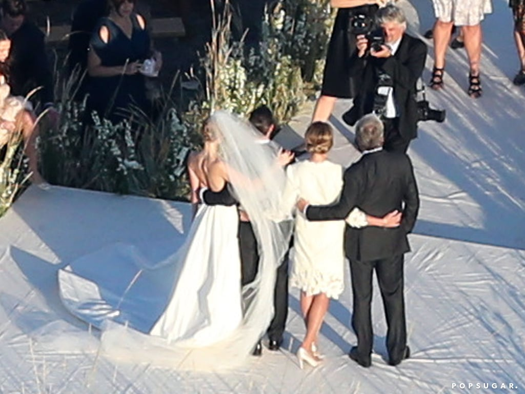 Kate Bosworth posed for pictures during her Montana wedding.