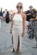 This festival-goer channeled her inner Grecian goddess in an off-white maxi dress and strappy sandals. Source: Chi Diem Chau