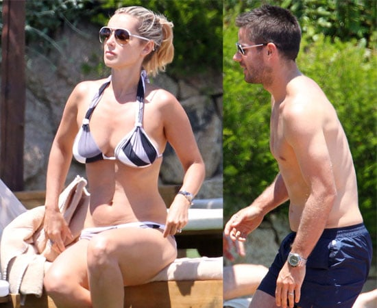 Pictures of Jamie Redknapp Shirtless Topless and Louise Redknapp in a Bikini On Holiday in Sardinia