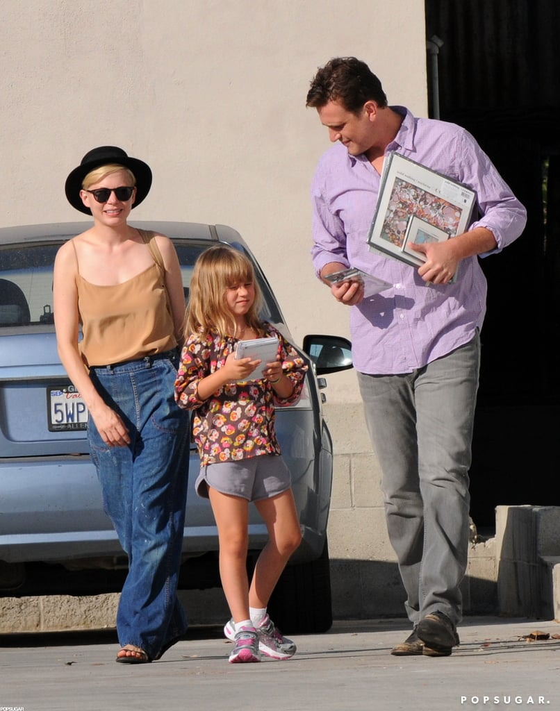 Michelle Williams and Jason Segel spent time with Matilda Ledger in LA.