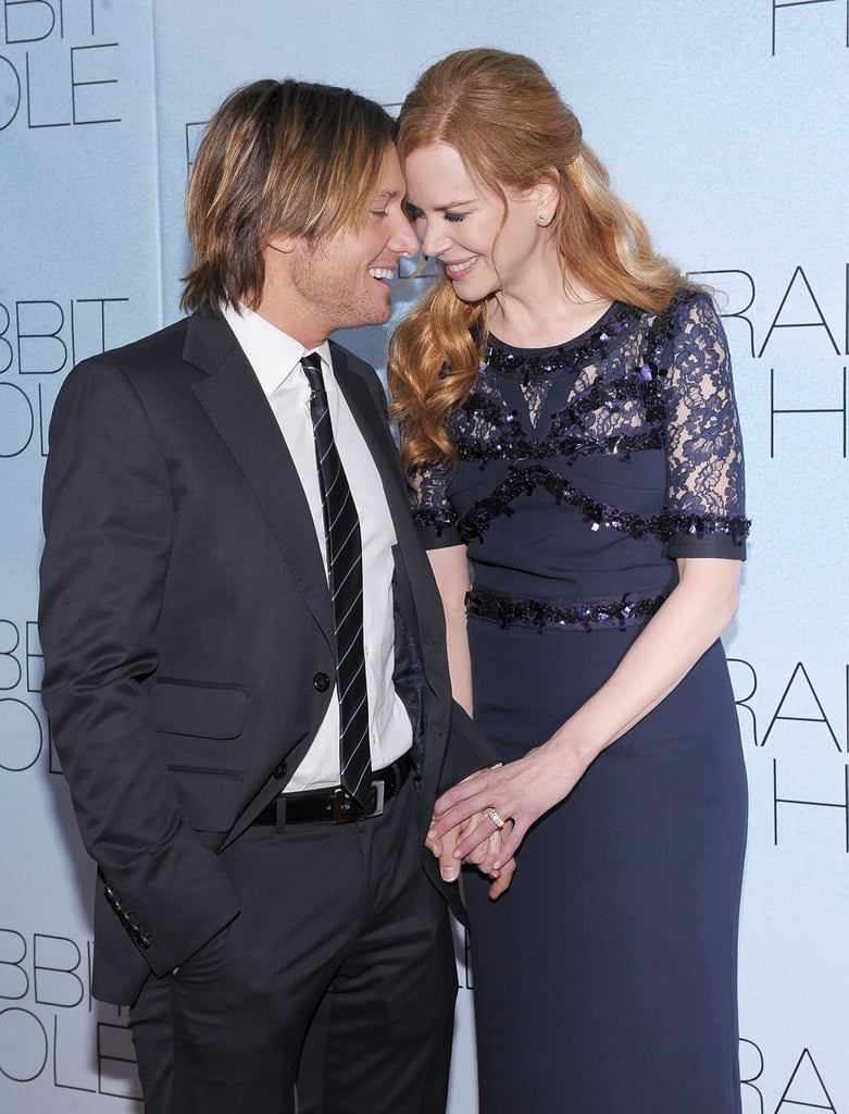 Sharing a sweet moment at the NYC premiere of Rabbit Hole in Dec. 2010.