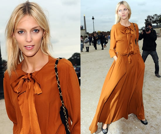 Photos of Anja Rubik at Chloe Spring 2011 Show at Paris Fashion Week