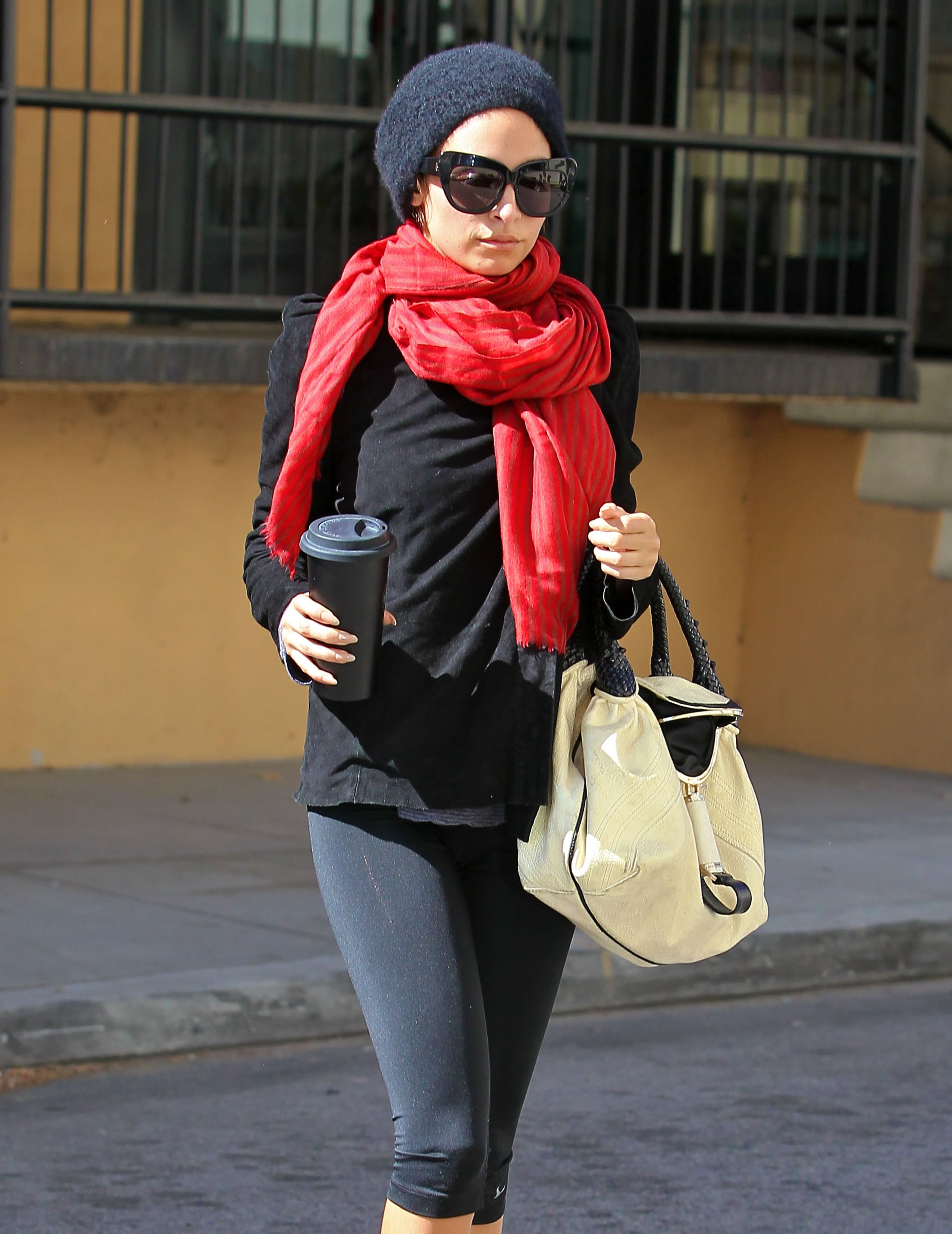 Nicole Richie hit the gym in LA on Tuesday.