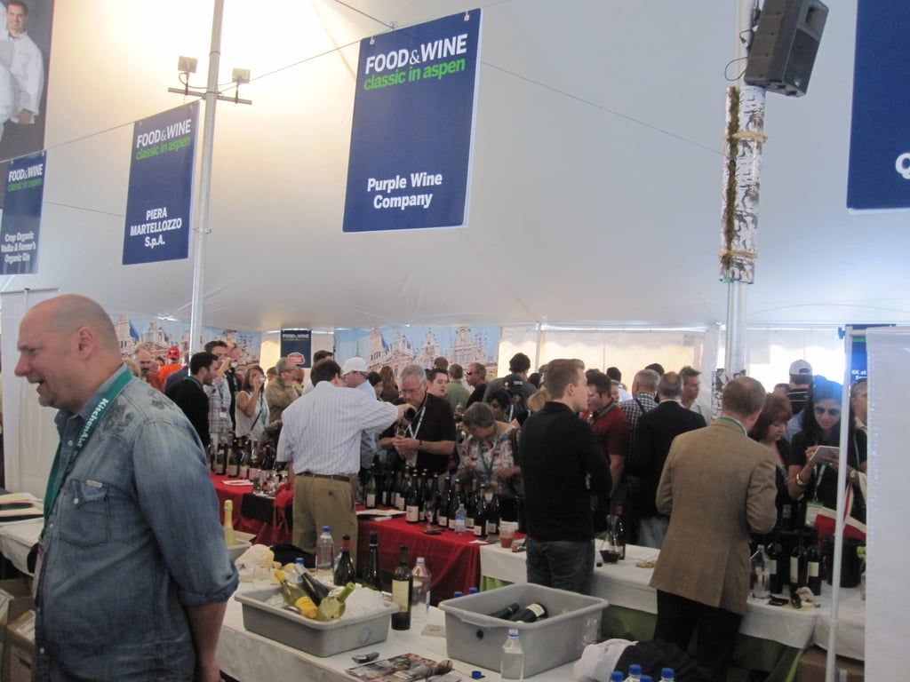 The tents were crowded. Check out all the people!