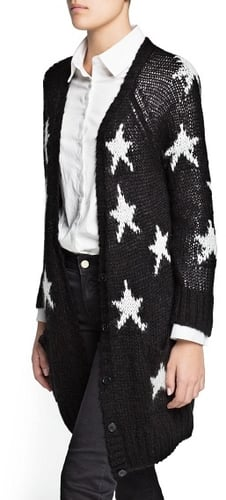 Star chunky knit cardigan