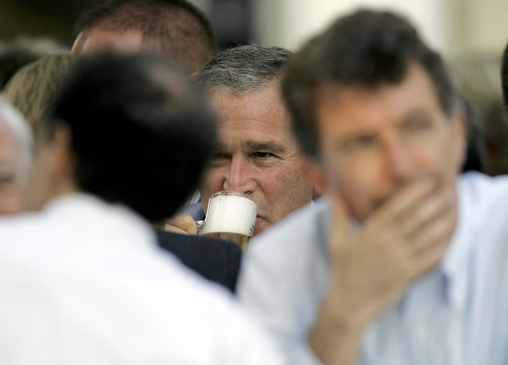 During a 2006 visit to Germany, George W. Bush sipped some nonalcoholic beer.