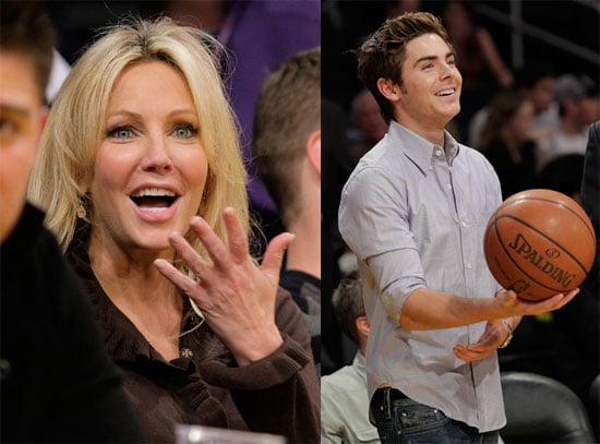 Photos of Zac Efron and Heather Locklear at the Lakers Game 2009-11-13 15:00:35