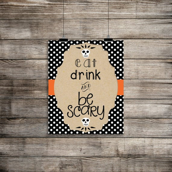Eat, Drink, and Be Scary Poster