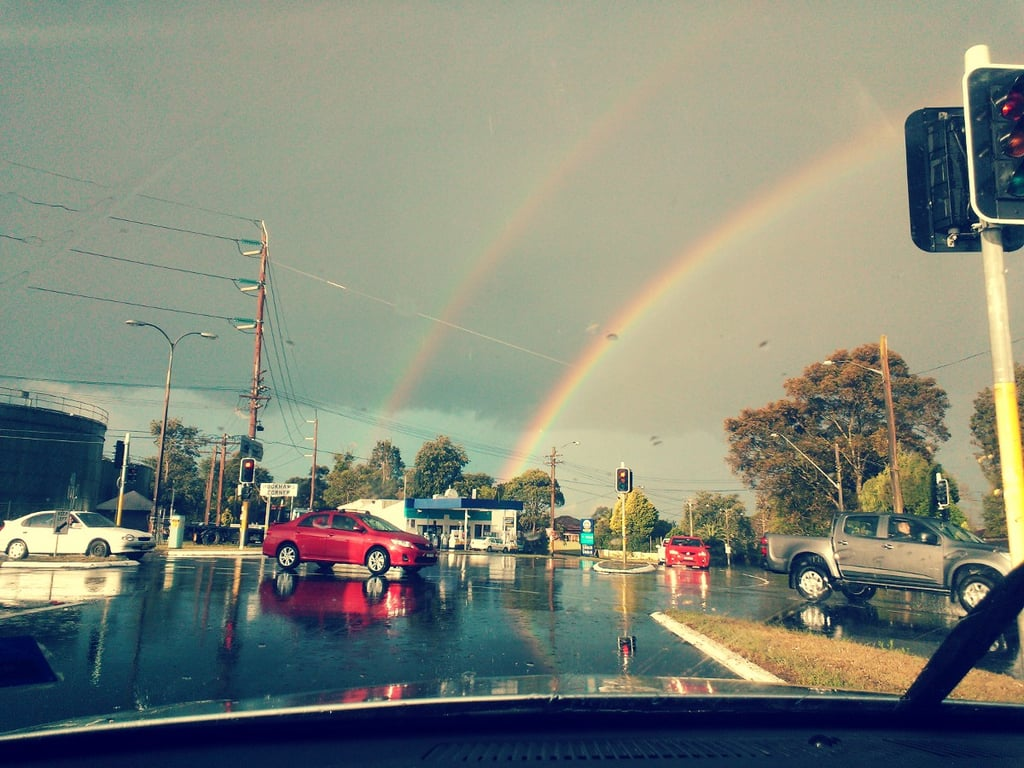 Woahhh, Gen spotted a double rainbow!