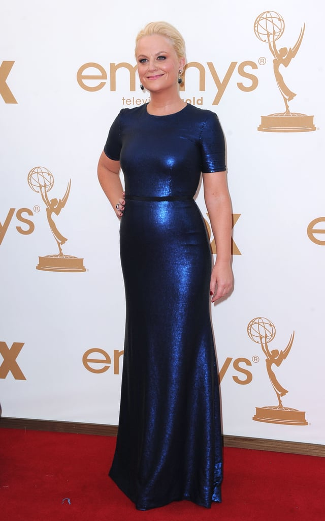 Amy Poehler in blue at the Emmys.