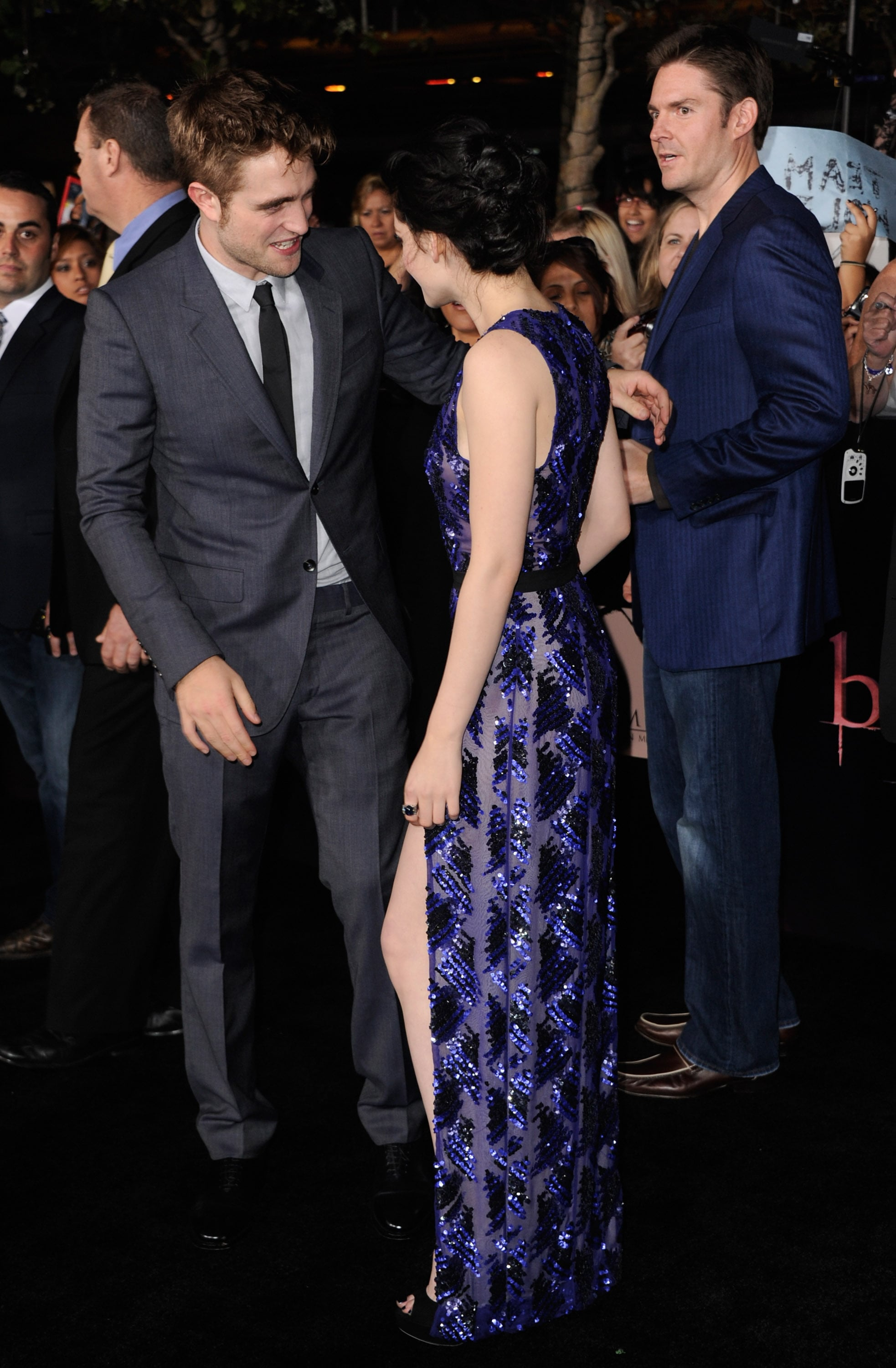Robert Pattinson and Kristen Stewart shared a sweet laugh.