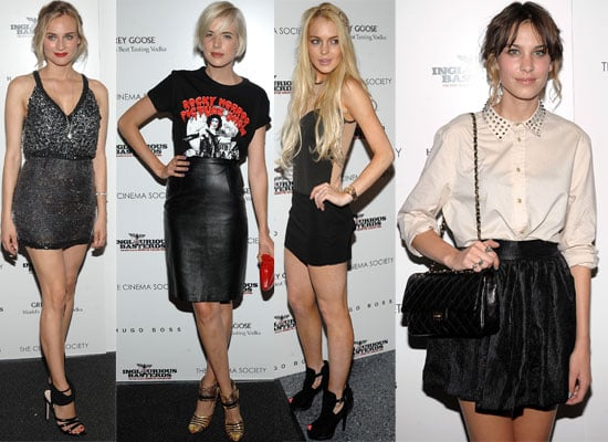 Photos From Inglourious Basterds NYC Premiere Including Lindsay Lohan, Alexa Chung, Agyness Deyn, Diane Kruger, Chace Crawford