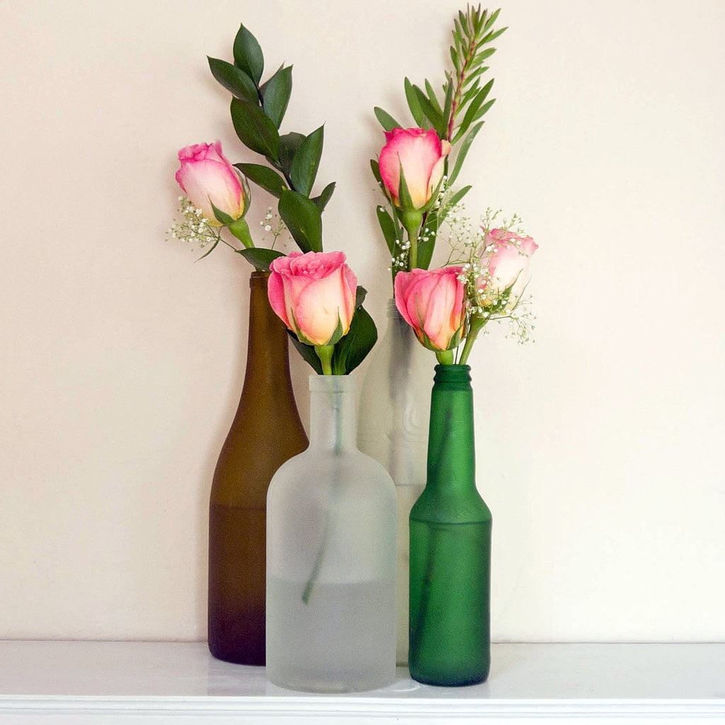 Frosted-Bottle Vases