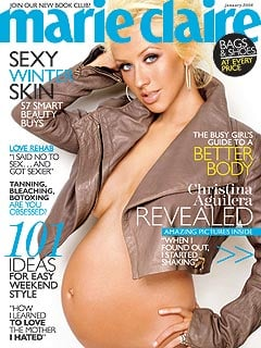 Christina Aguilera in Marie Claire