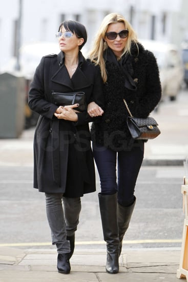 Pictures of Kate Moss and Sadie Frost in London