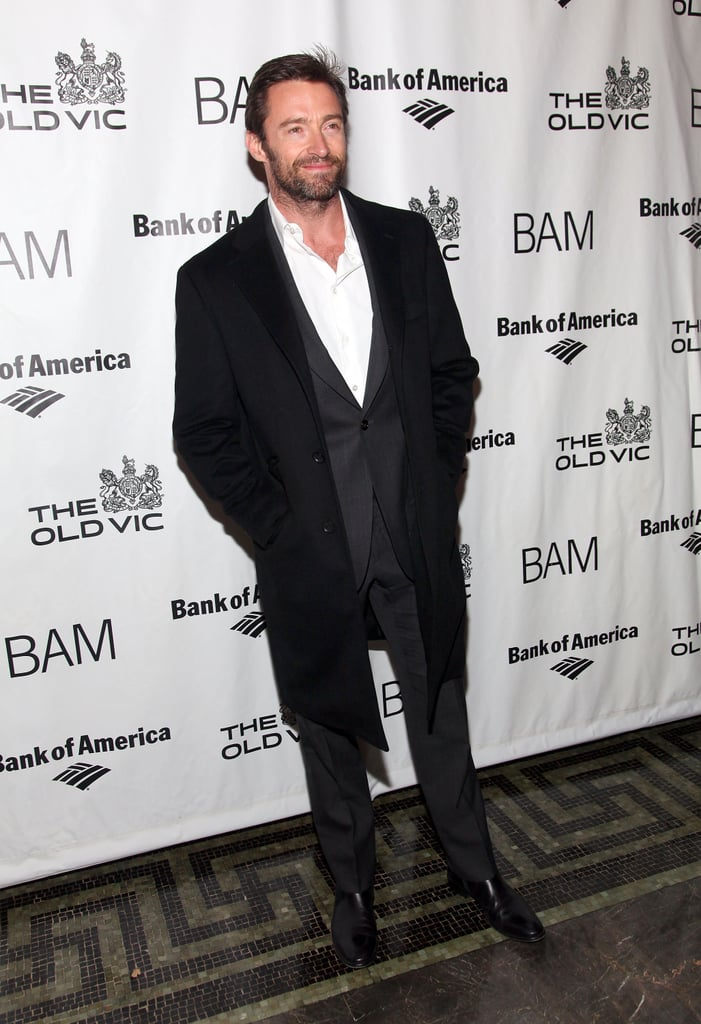 Hugh Jackman looked smart for the opening of Richard III in NYC on Jan. 18.