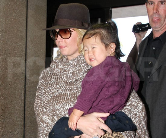 Slide Picture of Katherine Heigl and Naleigh at LAX