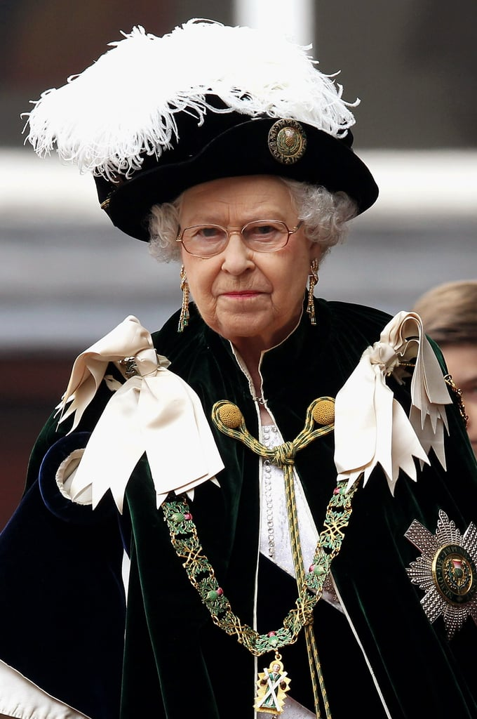 Queen Elizabeth was present at the Thistle Ceremony in Scotland.