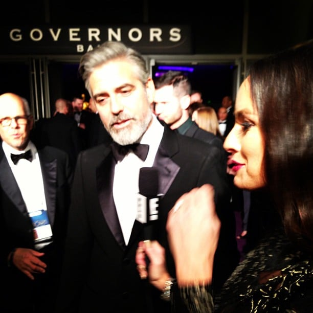 George Clooney got interviewed outside the Governors Ball. Source: Instagram user iamcattsadler