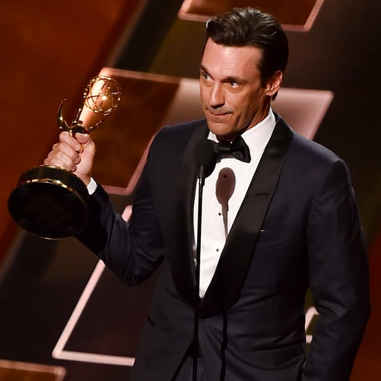 Jon Hamm Thanks His Dog and Ex-Girlfriend in an Emotional Emmys Speech