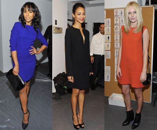Kate Bosworth, Zoe Saldana, and Kerry Washington at 2011 New York Fashion Week