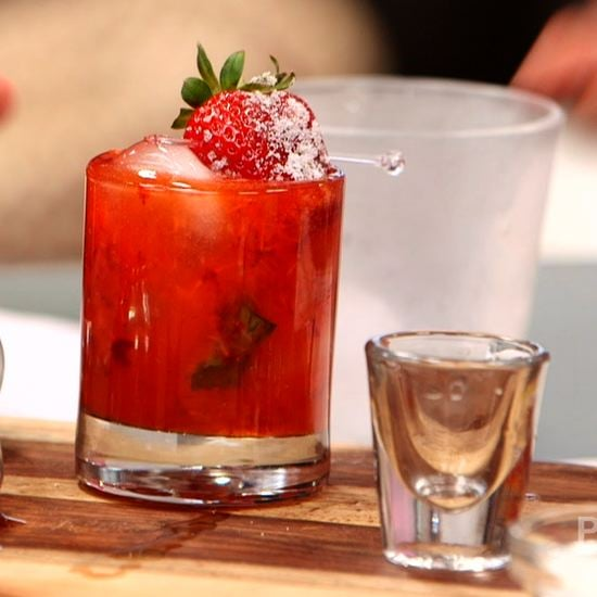 Strawberry-Basil Gin Cocktail | Video